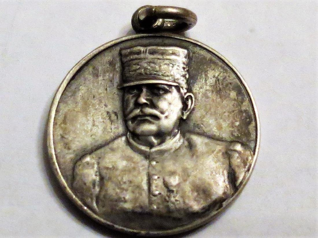 """Silver Medal Charles de Gaulle Military 0.8"""" 5 Grms"""