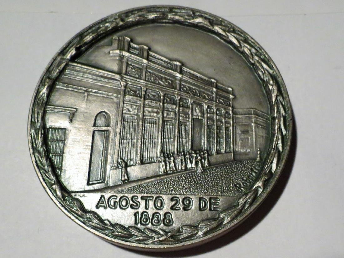 """Big Silver Medal 428 Grms Education 1988 3.6"""" Signed"""