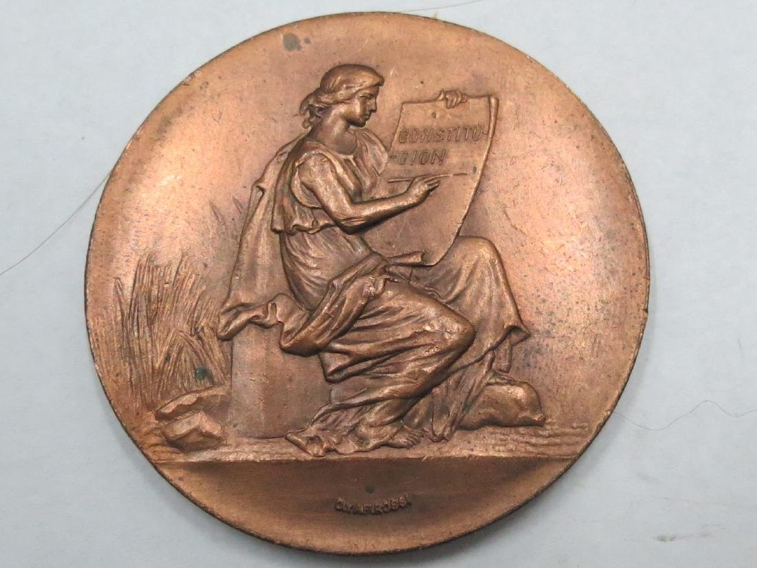Bronze Medal 1905 Art Nouveau By Rossi D: 1.8""