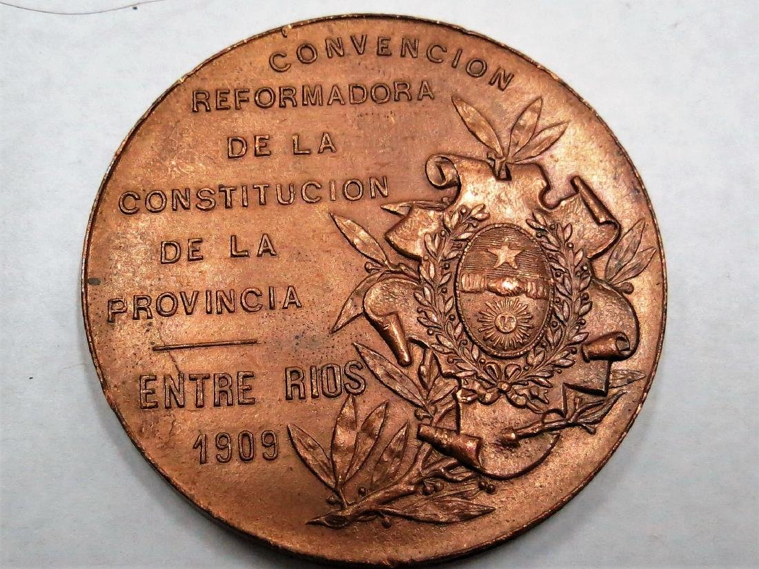 "Bronze Medal 1905 Art Nouveau By Rossi D: 1.8"" - 2"