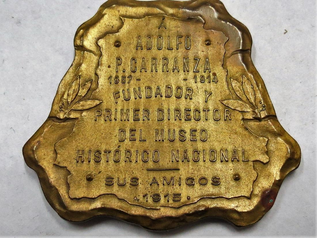 "Bronze Medal 1915 Museo Historico Nacional2""x2"" - 2"
