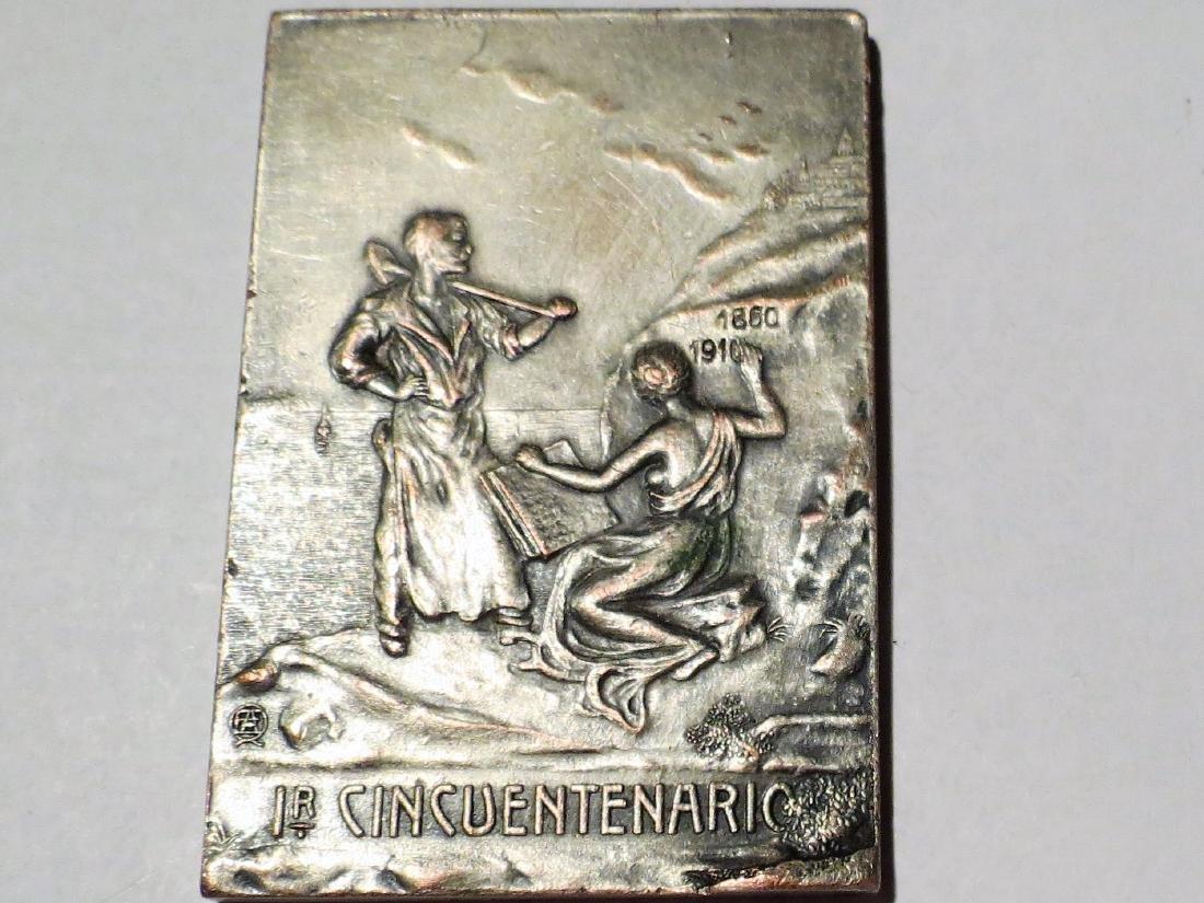 "Bronze Medal 1910 Rosario Sta Fe 2.5"" x 1.6"" Vanzo"