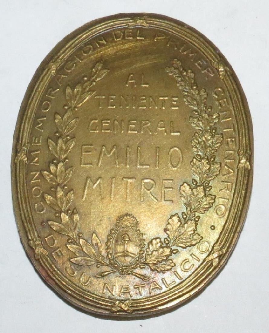 "Copper Medal Honor - 1896 By Orzali D: 2.3"" - 2"