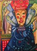 Jose M Mijares Oil on Canvas 24 x 20 The Clown
