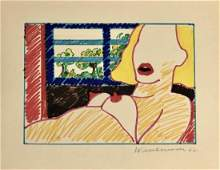 Tom Wesselmann 1962 Ink on Paper 75 x 95