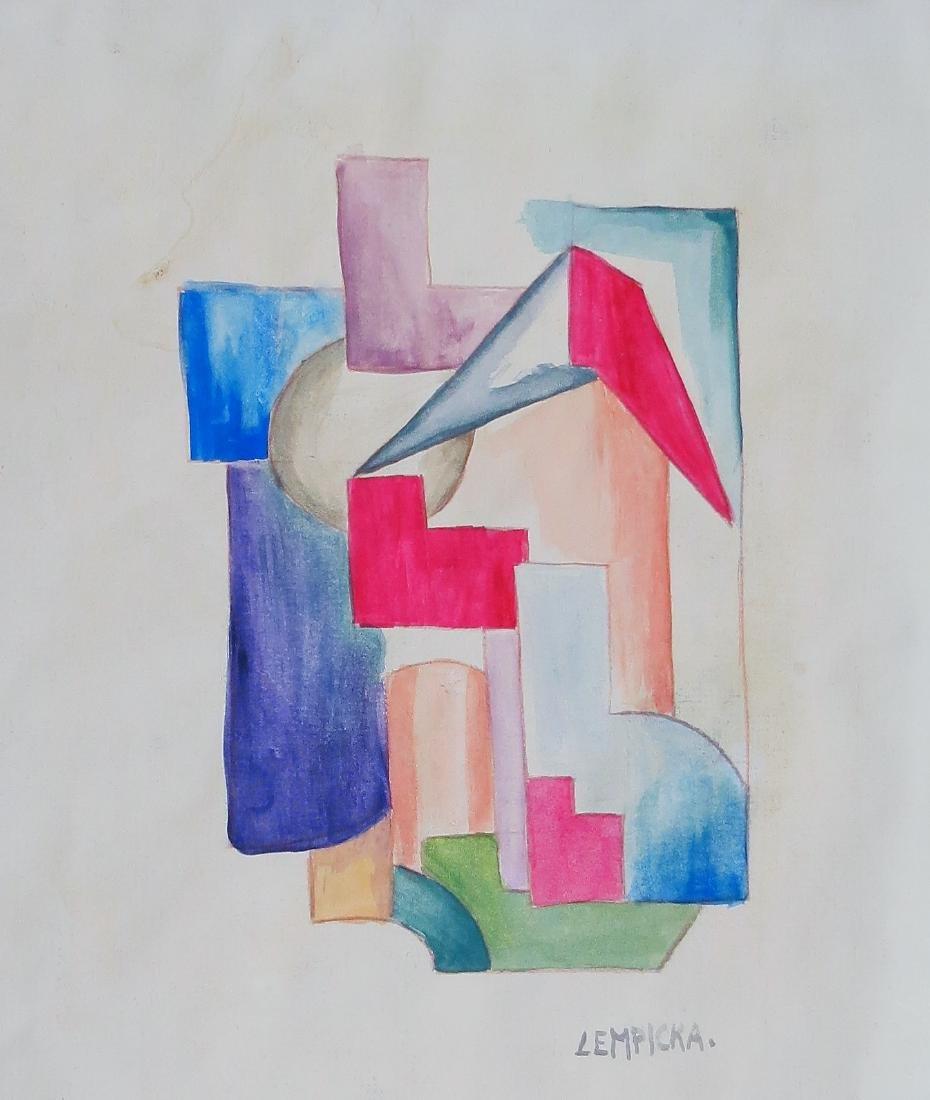 "Tamara Lempicka Gouache on paper 8.6"" x 10"" Provenance"
