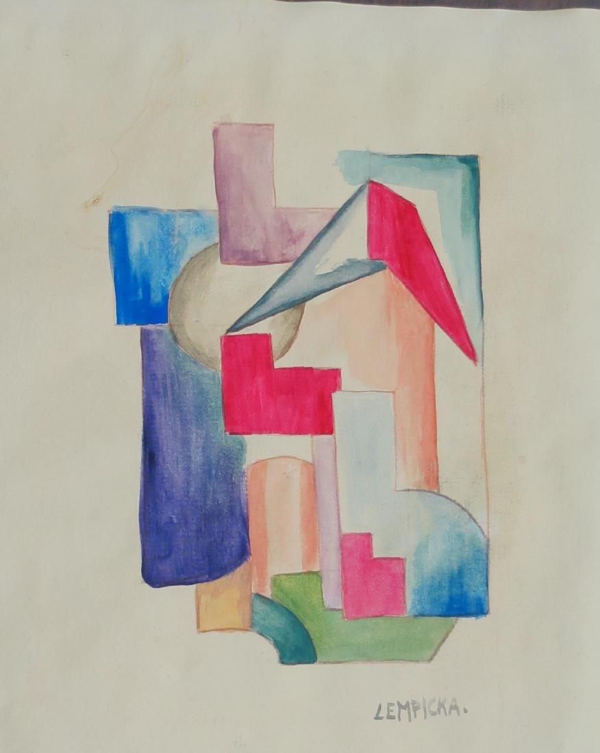"Tamara Lempicka Gouache on paper 8.6"" x 10"" Provenance - 2"