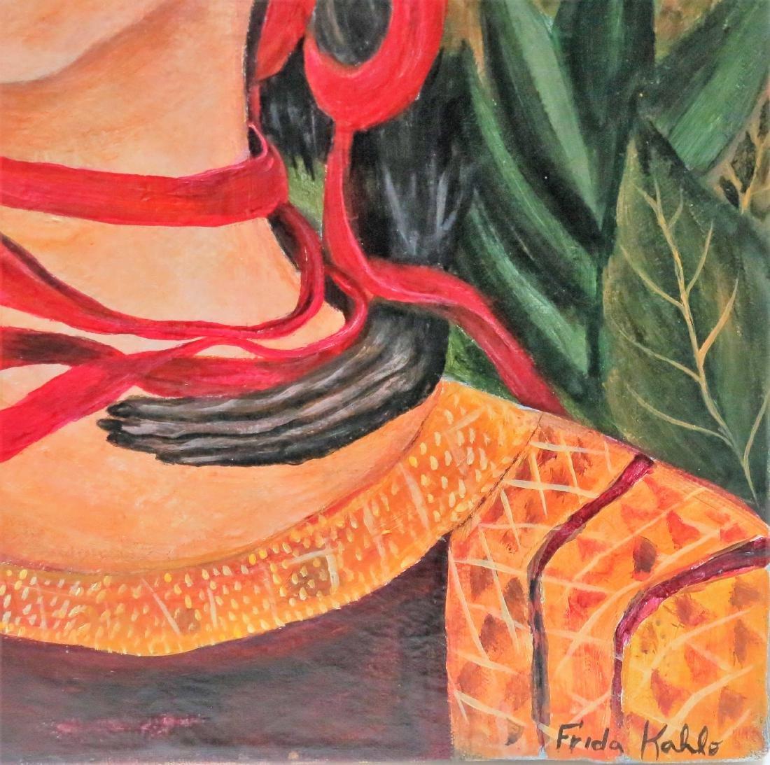 """Frida Kahlo - Oil on Canvas 15.3"""" x 13.5"""" Appraisal - 3"""