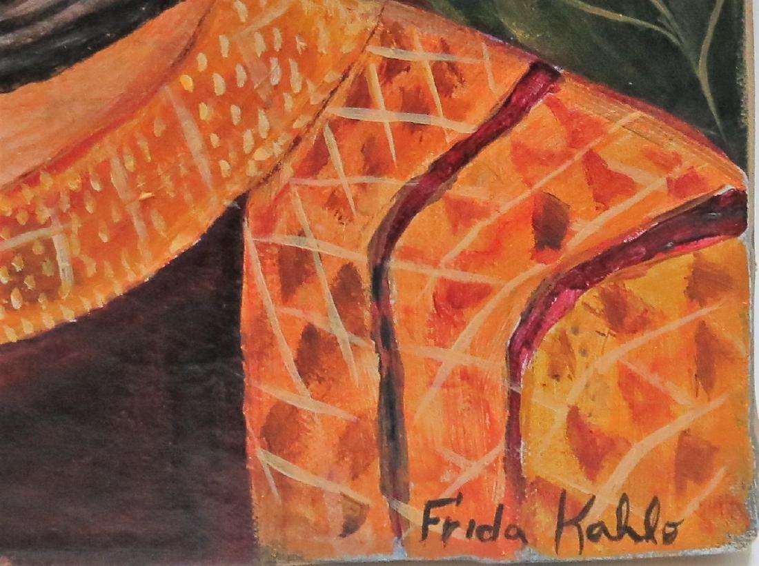 """Frida Kahlo - Oil on Canvas 15.3"""" x 13.5"""" Appraisal - 4"""
