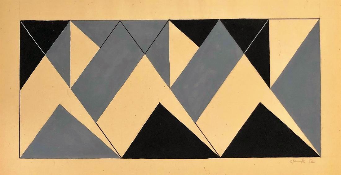 "Lygia Clark 1952 Mixed Media on paper 8"" x 15"""