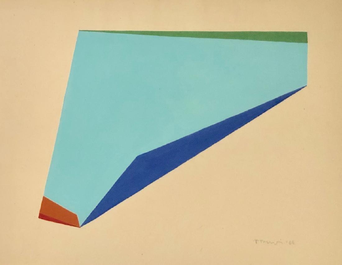 "Anne Truitt 1966 Gouache on paper 10.7"" x 13.6"""