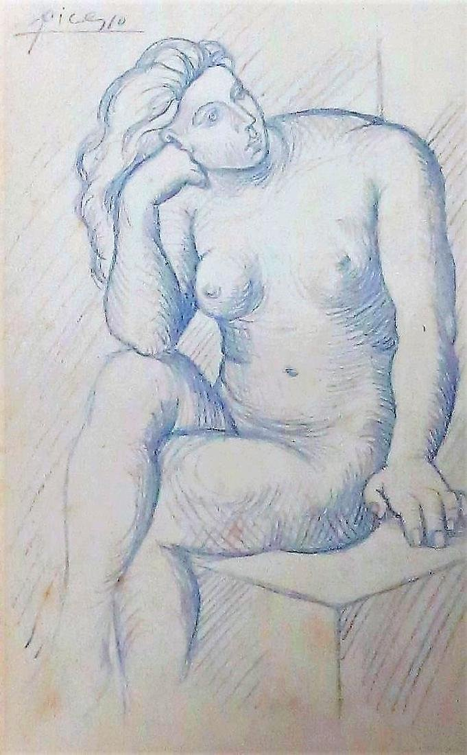 Pablo Picasso (Attributed) Pencil on paper Rough draft