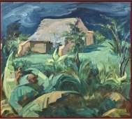 Juan Rimsa  Oil on Canvas with COA 215 x 24