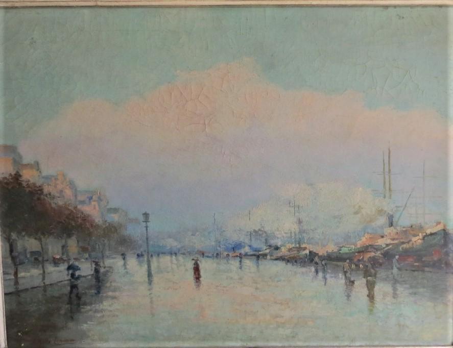 "Jacques Lemanier - Oil on Canvas 31"" x 23"" Unframed"