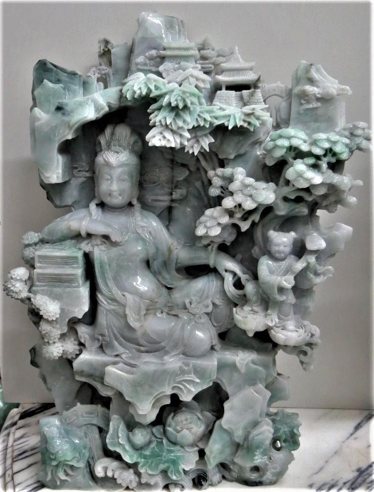 Magnigicent Jadeite Figure of Qin Jin Museum Quality