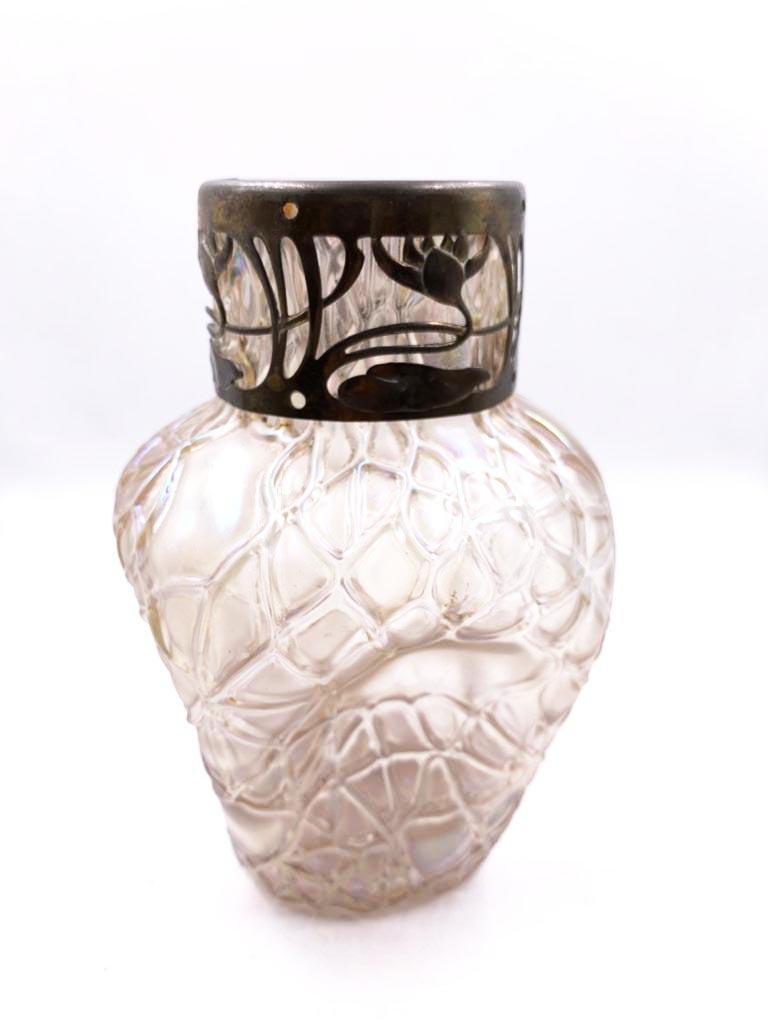 "French Glass Vase - Excellent  Art Deco H: 6.8"""