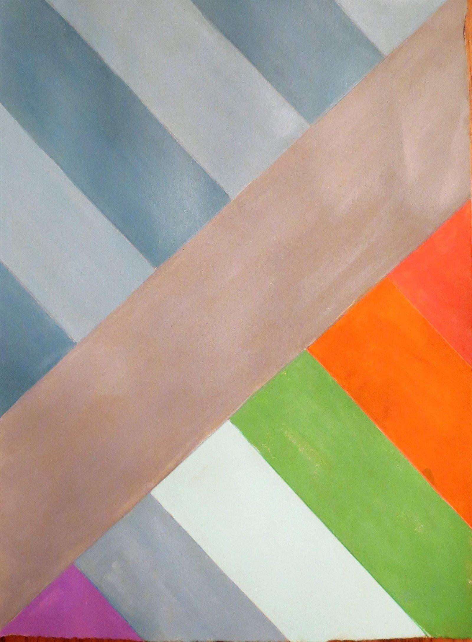 "Eugenio Carmi  Acrylic on paper 15"" x 11"""