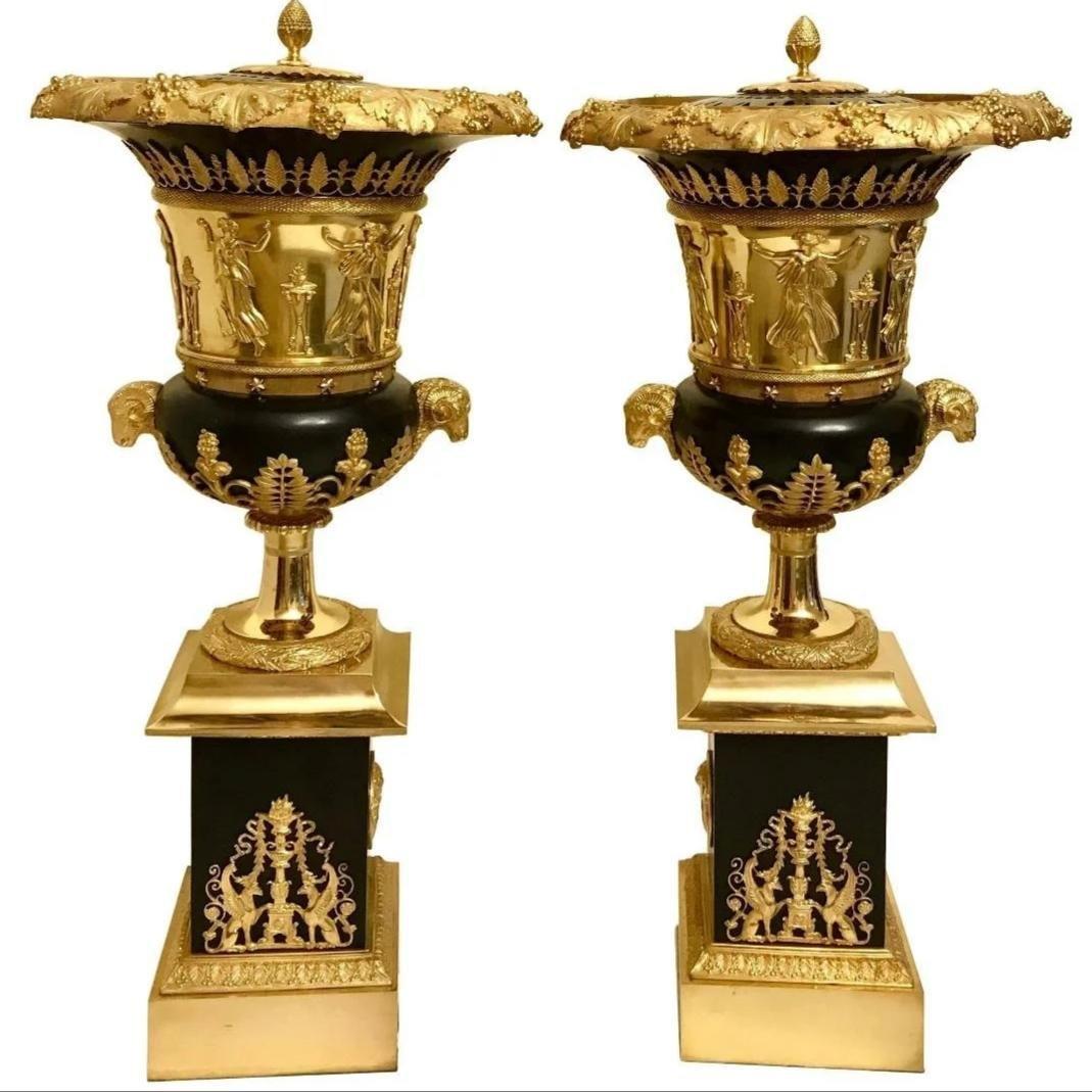 Pr. of Perfume burners By Pierre P Thomire XIX Century