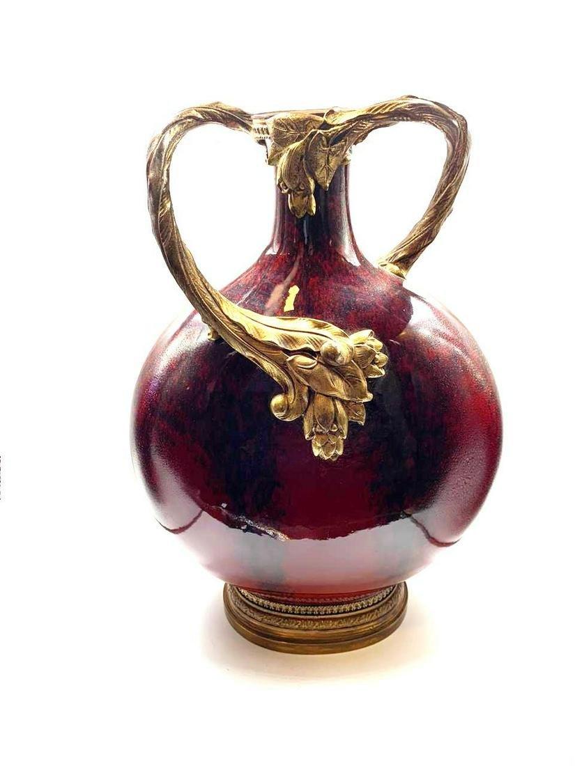 """Sevres Porcelain Enameled Urn France 1920s H: 15"""""""