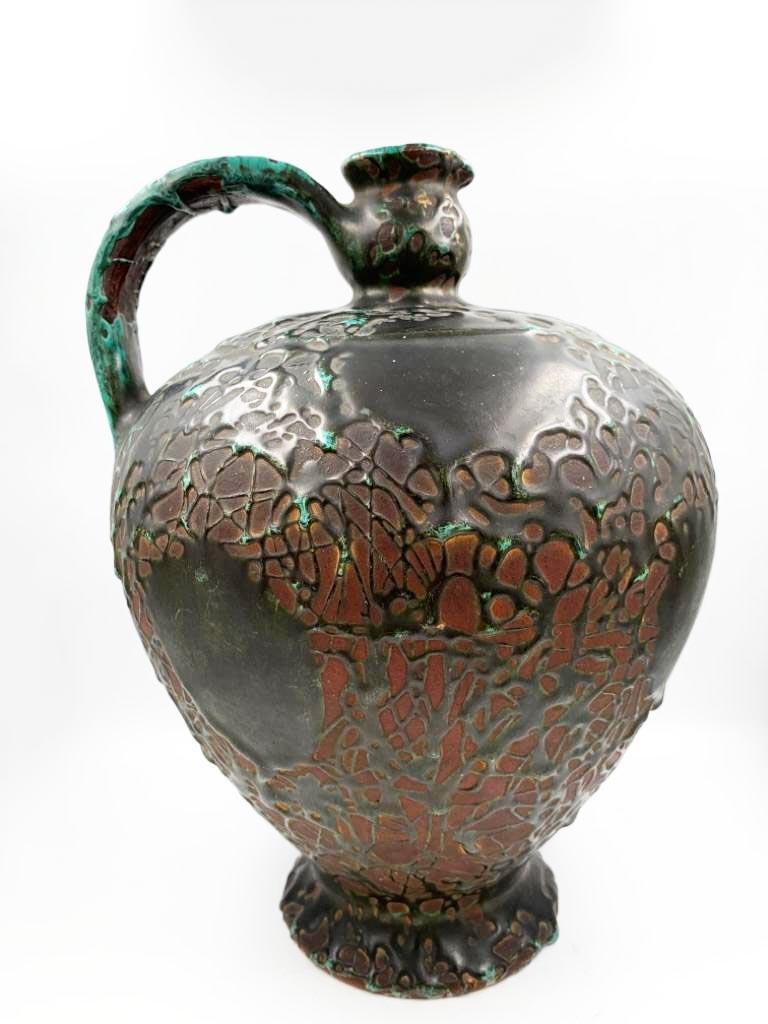 """Atelier Primavera Ceramic  Jar H: 11"""" Excellent France"""