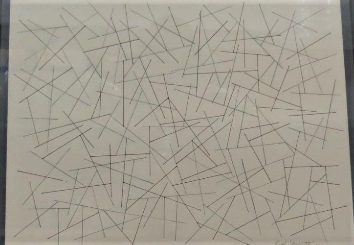 "Sol Lewitt - Pencil on Paper .8"" x 10""  w/o COA"