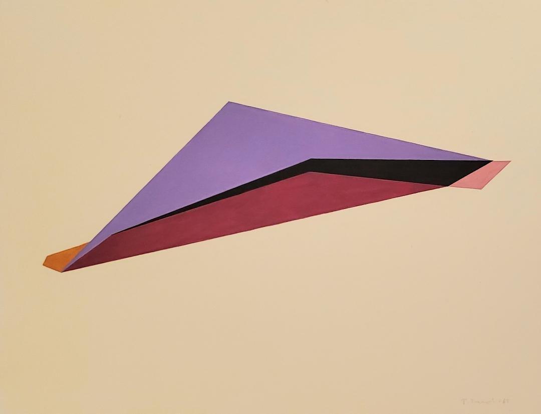 "Ann Truit 1965 gouache on paper 13."" x 17.5"" w/o COA"