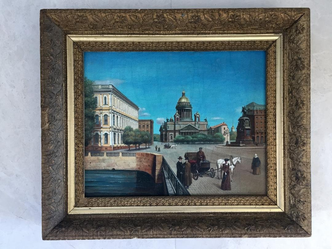 Russian Oil on Canvas Signed Klimenko 1915