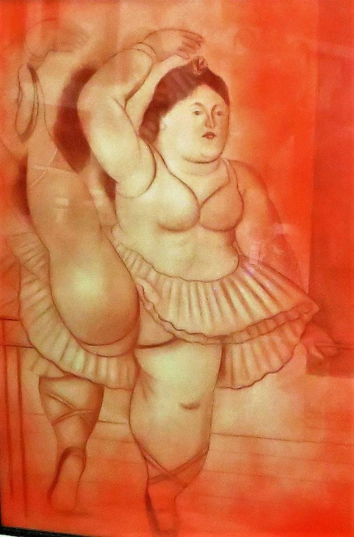 "After Fernando Botero - Sanguine - Dancer 26"" x 18"""
