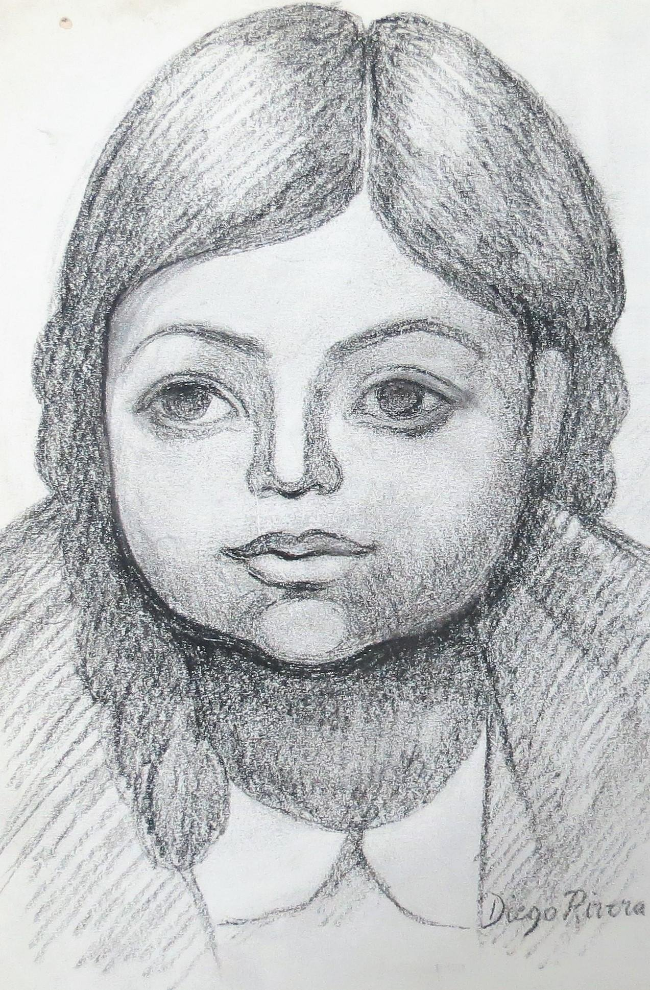 Diego Rivera - Pencil on Paper (Attributed) Excellent
