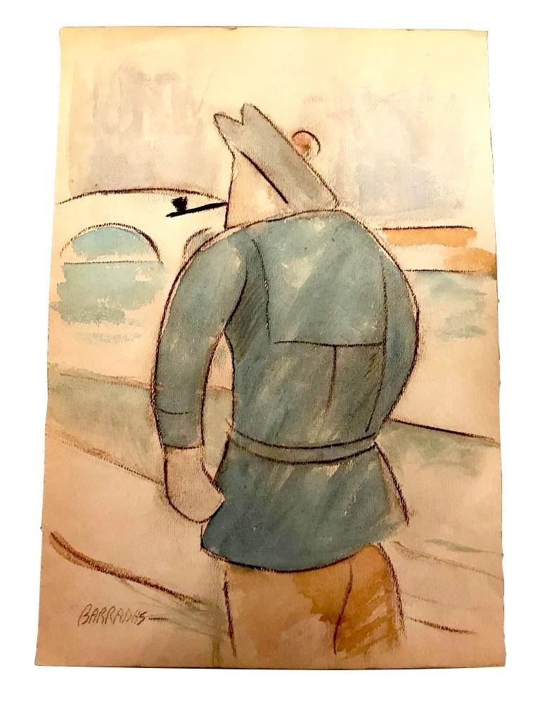 "Rafael Perez Barradas - Color pencil on Paper 7"" X 9"""