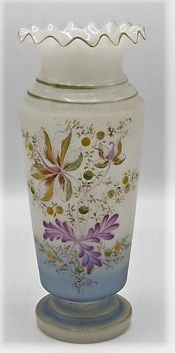 """Opaline Vase - France 1920 - H: 12"""""""
