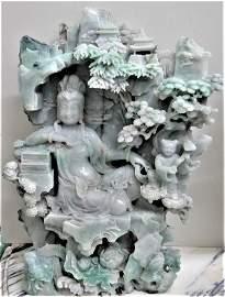 Jadeite - Jade Celadon Sculpture Museum Quality