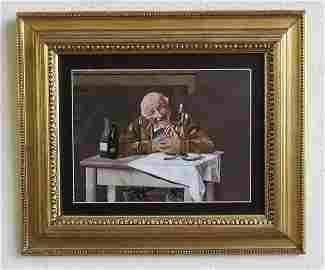 """Pietra Dura Plaque 9"""" x11"""" Frame: 15"""" x 17"""" Italy"""