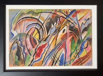 Wassily Kandinsky (After) Watercolor on Paper