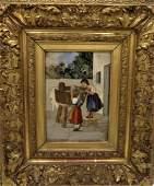 """Pietra Dura Plaque 9.5"""" x 7.5"""" Florence Fr: 19"""" x 17"""""""
