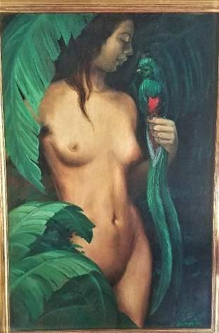 Tamara Lempicka (Attributed) Oil on Canvas Signed