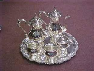 Sterling Silver Coffee & Tea Service.