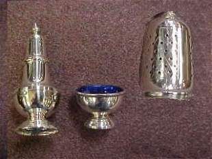 Sterling Silver Salt Cellar & Pepper Shaker