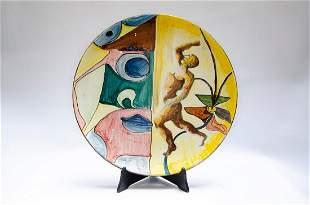 """Stefano Camastra Large Ceramic Plate Diam: 14.3"""""""