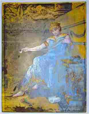 """Peccatte Thevenot Porcelain Plaque 15.2"""" x 11.7"""""""