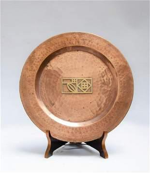 "Josef Hoffmann Art Deco Plate Diam: 12"" - Austria"