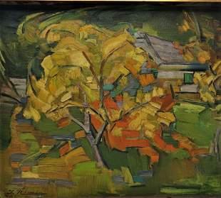 "Juan Rimsa Oil on Canvas w/ Provenance 14"" x 17.5"""