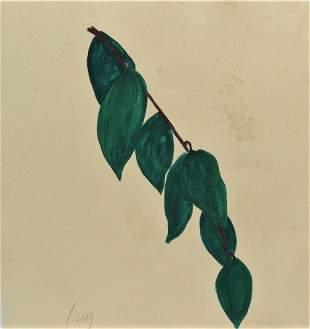 """Ellsworth Kelly Gouache on Paper 11.5"""" x 11"""" No COA"""