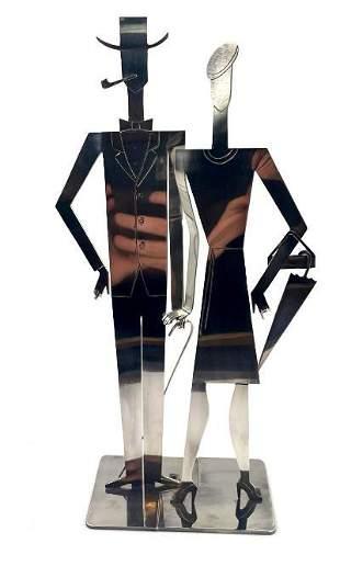 Atelier Hagenauer Magnificent Pair Art Deco Figures