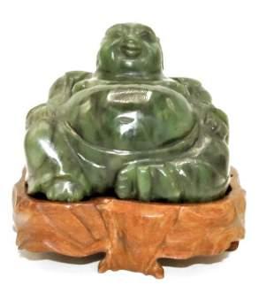 """Antique Jade Sculpture of Buddha H: 3.5"""" W: 4"""" D: 4"""""""