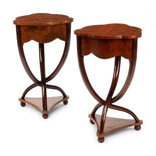 Pair of Biedermeier  Tables Twister Legs.