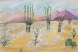 "Oscar Bluemmer Pastel on Paper Art: 12"" x 18"""