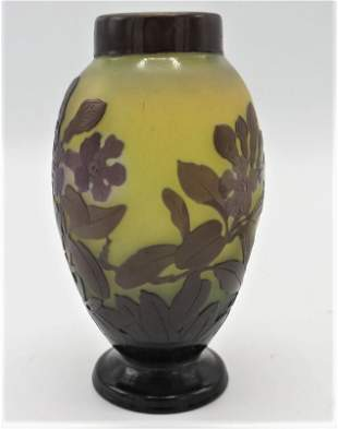 Galle Vase Cameo Glass Lamp  (Original) H: 6""
