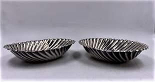 """Josef Hoffmann Art Deco Pair of Silver Trays H:1"""" D:4"""""""