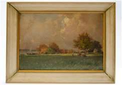 "Hans Puck Oil on Wood 11"" x 8"" Unframed"